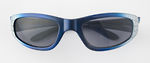 Parker with spiderweb design on temples in blue or black.  100% UV protection / impact resistant lenses.