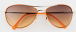 Kelly aviator sunglasses in orange, yellow, pink or green.  For Teens 13+.  100% UV protection.