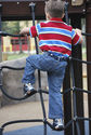 Boy wearing Navy Dapper Snapper toddler belt
