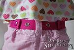 Pink Dapper Snapper toddler belt