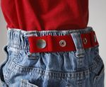Red Dapper Snapper toddler belt