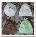 Fruitful Bambeanie Hats - choose from cocoa or lime bamboo velour full-coverage hats that are fully lined and perfect year round