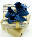 "Blue Ruffled Bow - available in 3"" or 5"" bows - 18 colors to choose from"