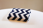 Eco Baby Blanket - Chevron Navy