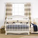 Canvas Ticking Stripe Crib Bedding (Monogrammed)