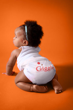 """NEW! """"Giggle"""" diaper cover & tank set (tush view)"""