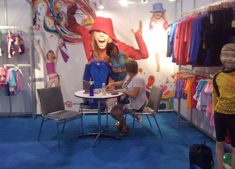 The Swim Show Booth - Moms/Dads Section
