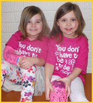Sydnie and Ava, the inspiration for BooBoo Kids!