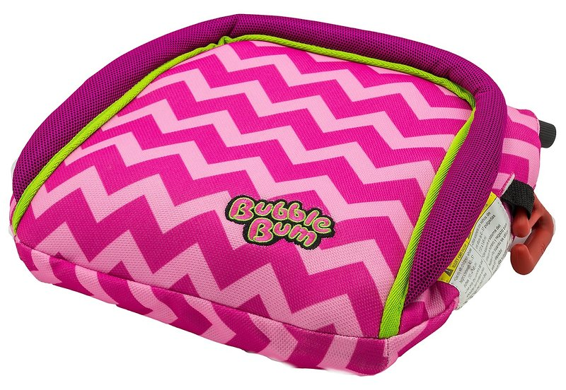 BubbleBum Car Booster Seat - Pink Chevron