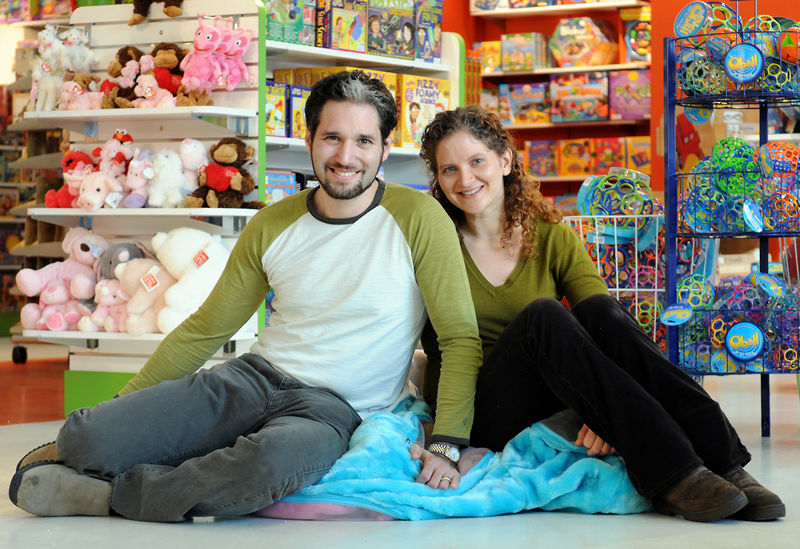Work is always playthings for Elie and Sheri Gurock, owners of Magic Beans,
