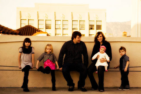 Trent and Melissa Nash and their kids