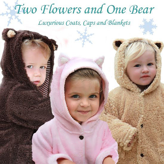 Two Flowers One Bear