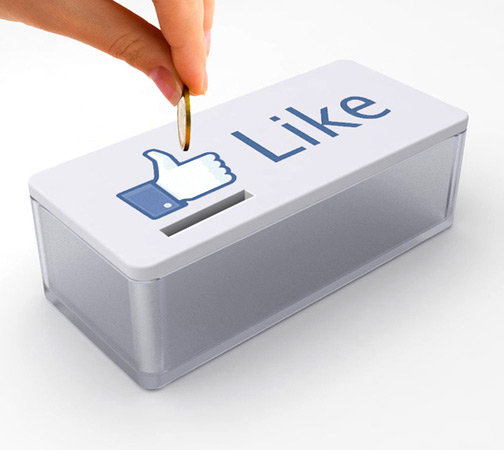 Facebook's thumbs-up icon depicts members' product devotion online.
