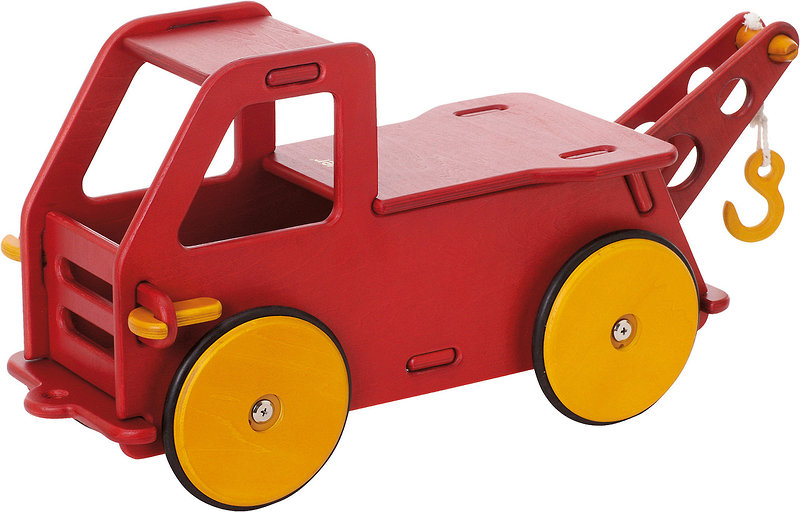 Red Truck Wooden Toy