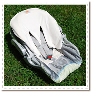 Our must-have 3/4 car seat liner fits infant bucket style seats. Plush and reversible - the easiest to care for