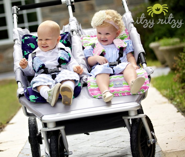 Ritzy Liner™ Reversible Stroller Liner - Transform an ordinary walk in the park into a runway fashion show!