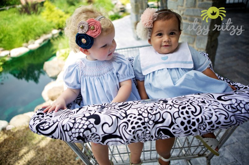 Ritzy Sitzy™ Shopping Cart and High Chair Cover - Germ protection because your little jet setter has no time to be sick!