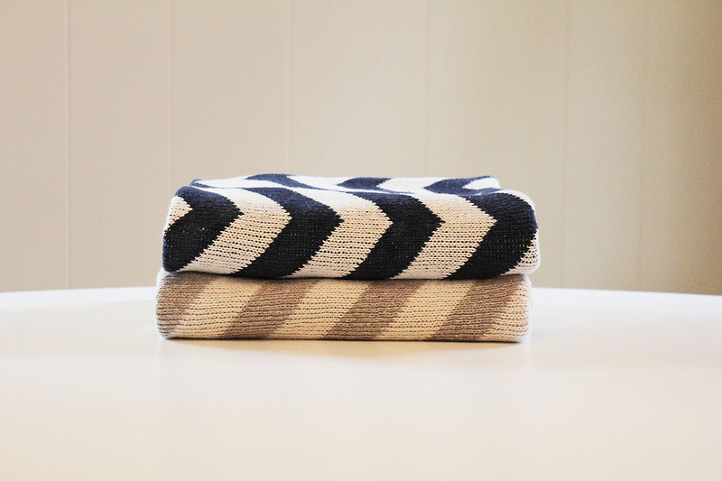 Eco Baby Blanket - Chevron