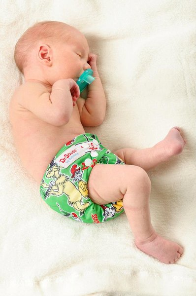 Our signature All-in-One cloth diaper fits babies as small as 7 pounds and goes up to 33 pounds
