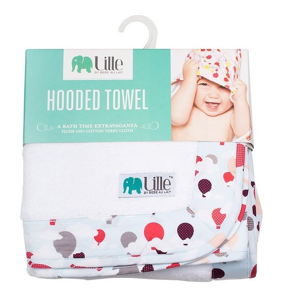 Lille by Bebe au Lait Hooded Towel in Package