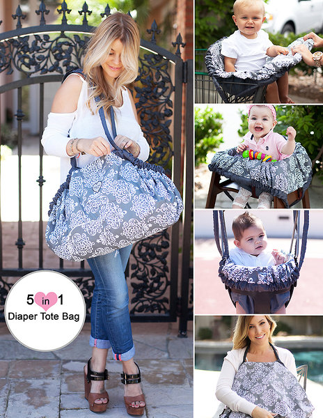5 in 1 GoGo Diaper Tote Bag