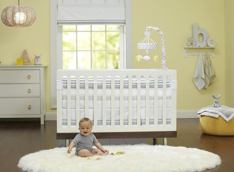 Just Born Neutral Fresh Air Crib Liner