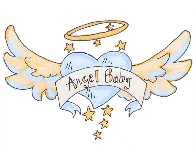 """Our new design """"Angel Baby"""" in blue"""