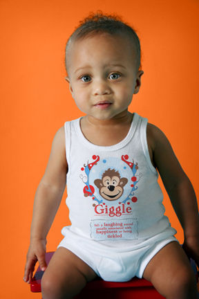 """NEW! """"Giggle"""" definition tank and diaper cover set"""