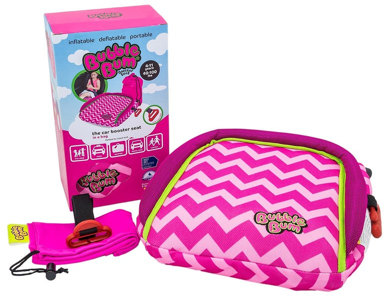 Bubblebum Car Booster Seat Pink Chevron The Giggle