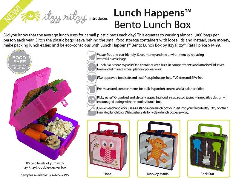 d1ff2480f059 Itzy Ritzy Acquires BrightBin, LLC Launches Lunch Happens™ Bento ...