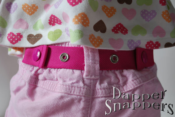 "Pink Dapper Snappers ""Fix Droopy Drawers in a Snap!"""