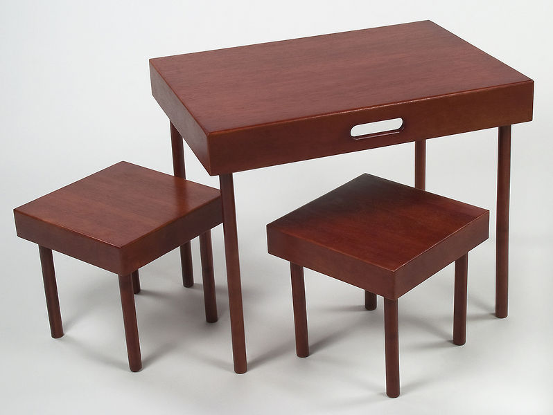 Lipper Intl. Portable Table & Stool Set
