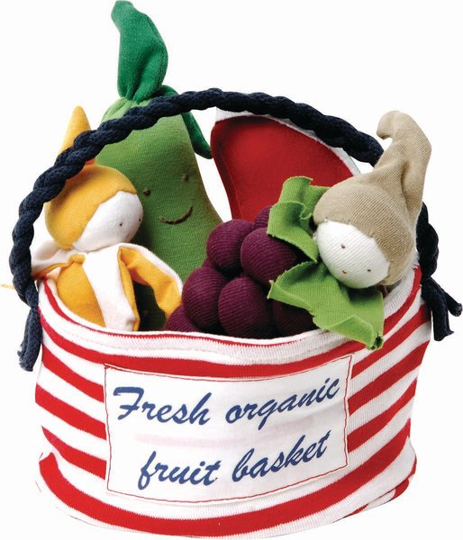 One of our best sellers! Includes: banana, pear, grape & watermelon. The tote makes a great bag for other uses! 100% Organic