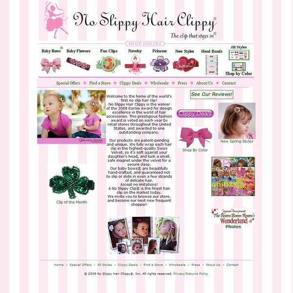 Screenshot of www.hairclippy.com