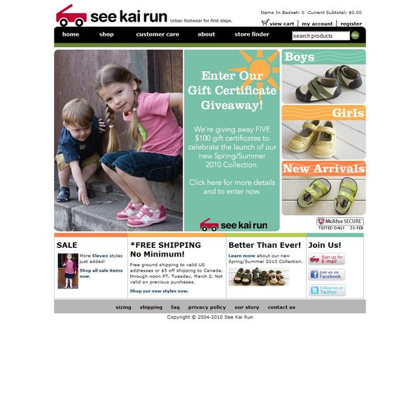 Screenshot of www.seekairun.com
