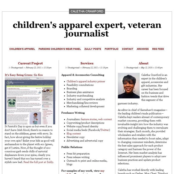 Screenshot of calethacrawford.com