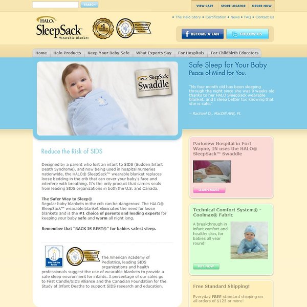 Screenshot of www.halosleep.com