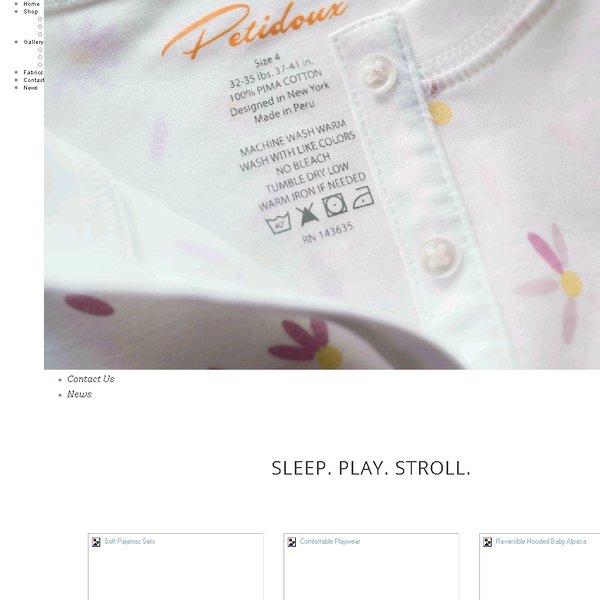 Screenshot of www.petidoux.com