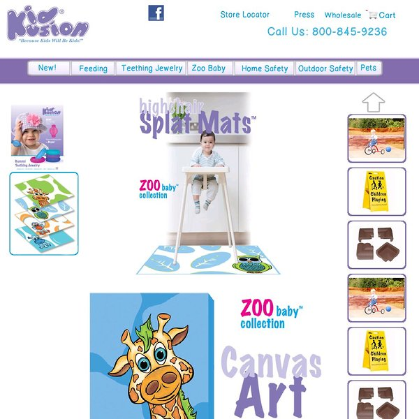 Screenshot of www.kidkusion.com