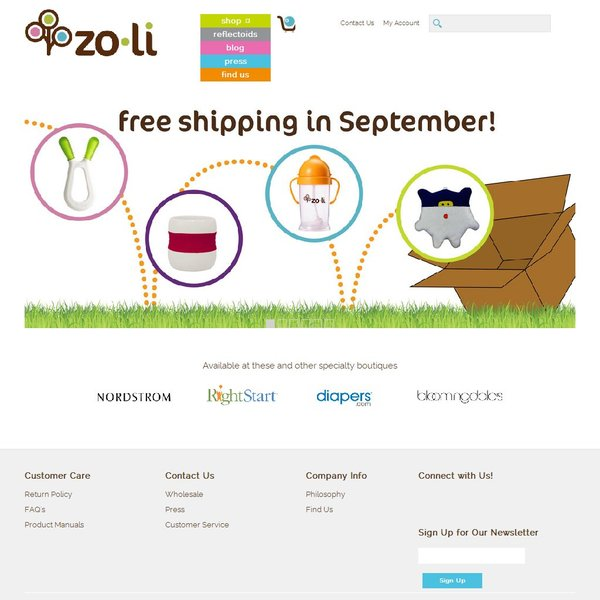 Screenshot of www.zolibaby.com