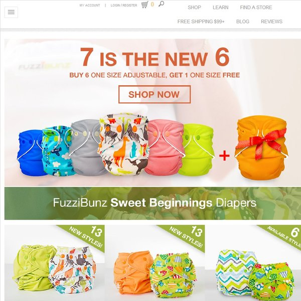 Screenshot of fuzzibunz.com