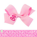 Get your monogram bows NOW!  Wee Ones offers 21 letters and 5 different colors to choose from.