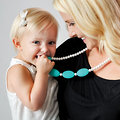 Nixi Silicone Teething Jewelry by Bumkins! Available in several fashionable necklace & bracelet styles!