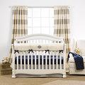 Canvas Ticking Stripe Crib Bedding (Monogrammed)