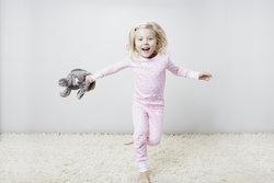 """Jump for joy in """" Pink Wildflowers"""" pima pajamas."""