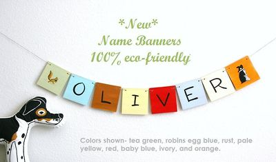 New ECO Friendly Name Banners