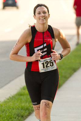 This is me running during my first triathlon! I know the blog pertains to marathons...don't worry I have now done 5 of those!