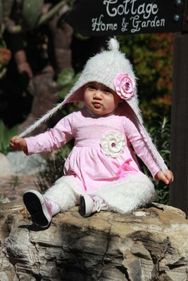 Powder Puff Jungle - FG1703 Swing top with Fuzzy pants and FG1711 Cozy Hat.