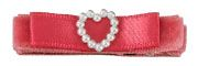 Lily Satin Heart Baby Bow (in 4 colors)