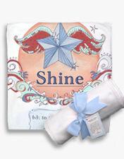 "NEW! ""Shine"" receiving blanket"